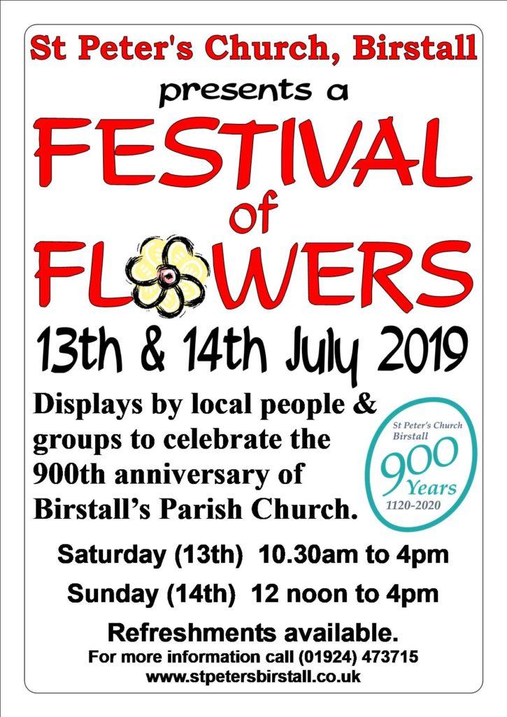 Festival of FLowers 2019 poster