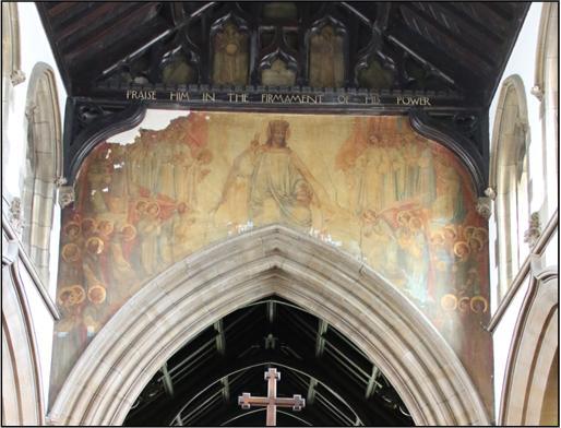 Frampton mural at St Peter's Birstall