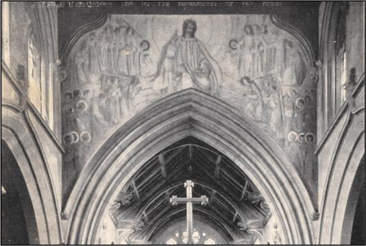 Early photograph of the Frampton mural