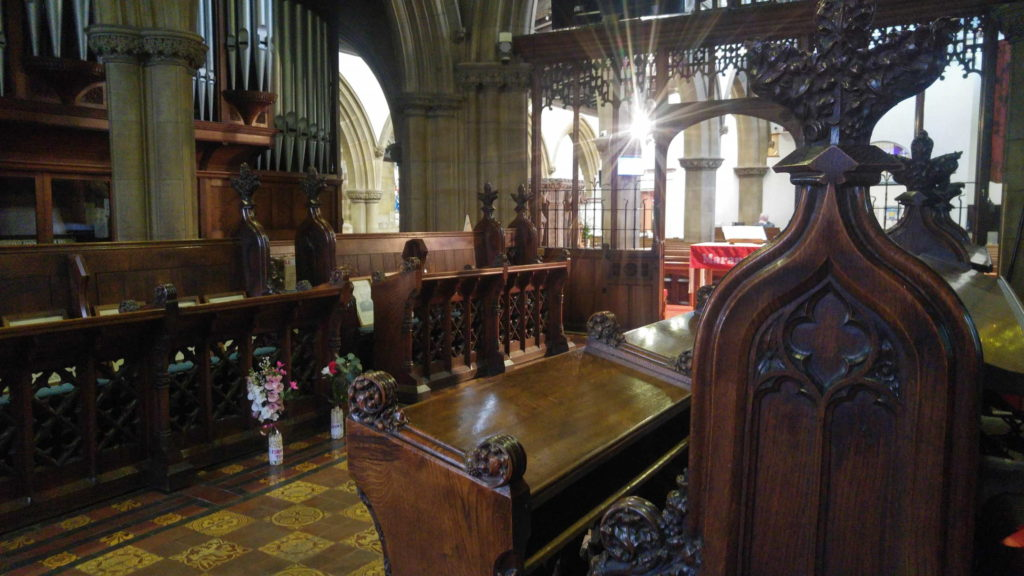 View from the choir stalls