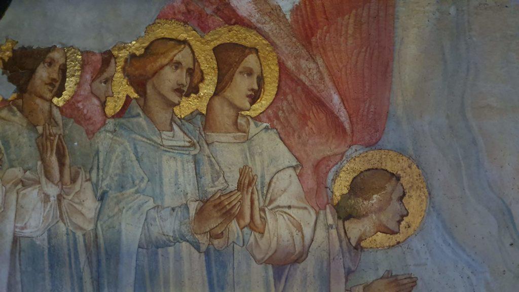 Detail of angels in the Frampton mural