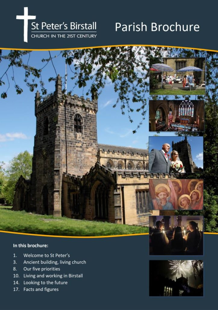 Cover of our parish brochure