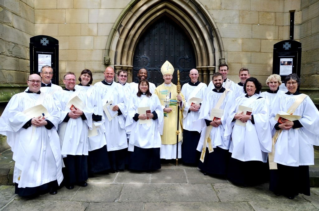 Ordinands at Wakefield Cathedral in 2016