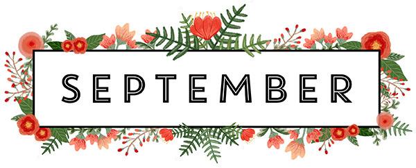 September in a floral frame